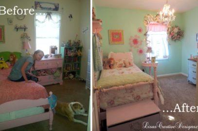 Shabby Chic Girl's Bedroom Makeover