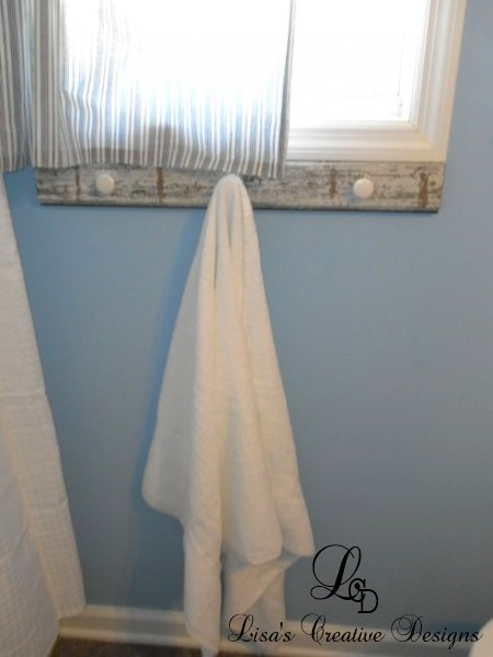 Upcycled Towel rack