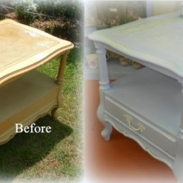 Before and After Shabby Chic Table Makeover