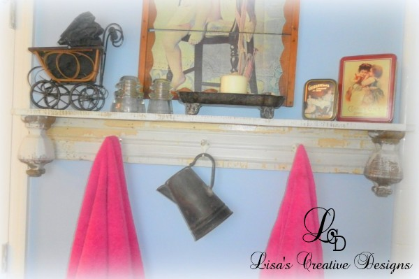 Shabby Chic Upcycled Towel Rack