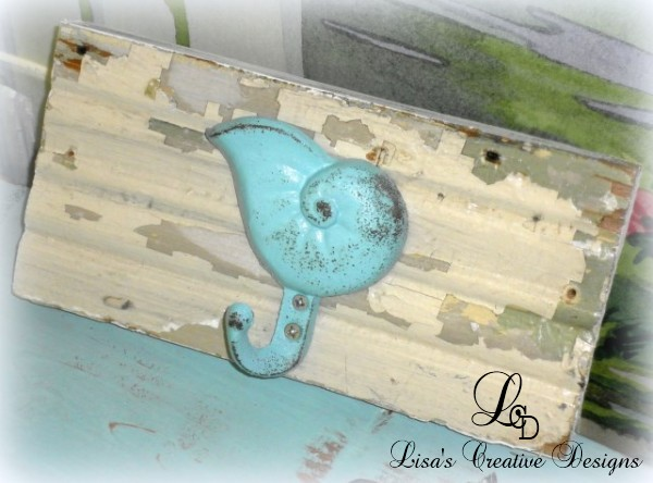 Beachy Upcycled Coat Rack