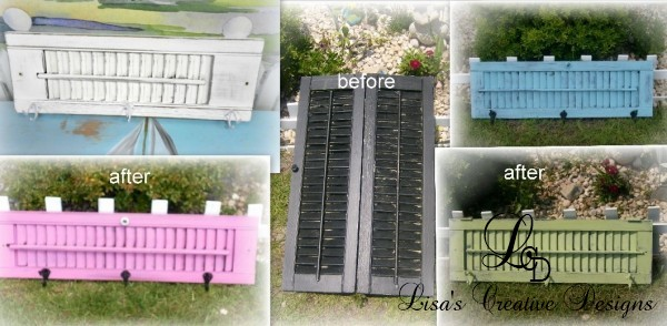 upcycled shutter coat racks
