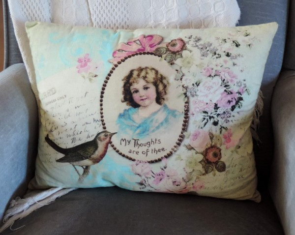 Spring Victorian Pillow from Hobby Lobby