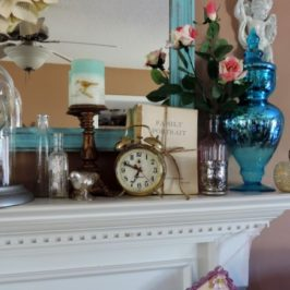 Decorating A Spring Inspired Mantel and A New Nikon CoolPix P520