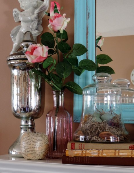 Decorating A Spring Mantel
