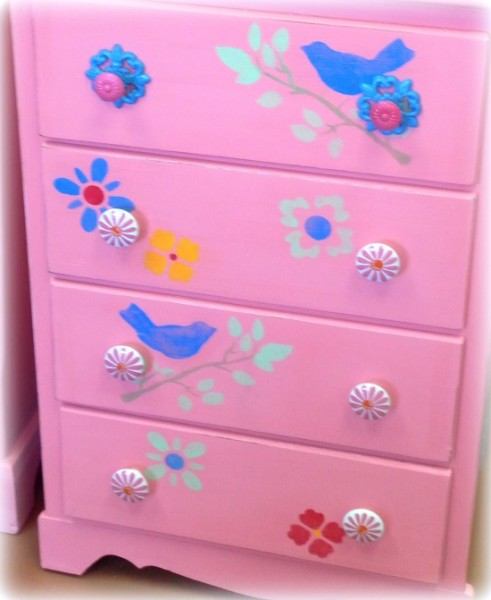 Bubble Gum Pink Painted Dresser