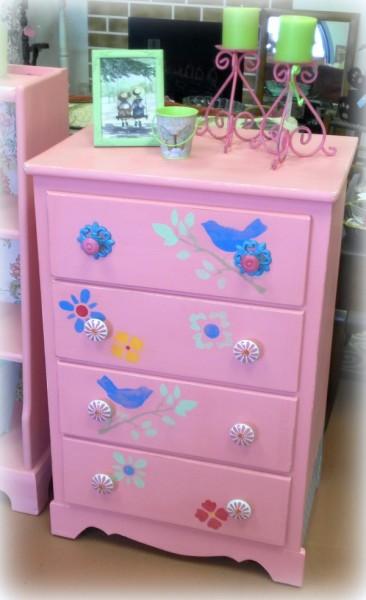 Bubble Gum Pink Dresser