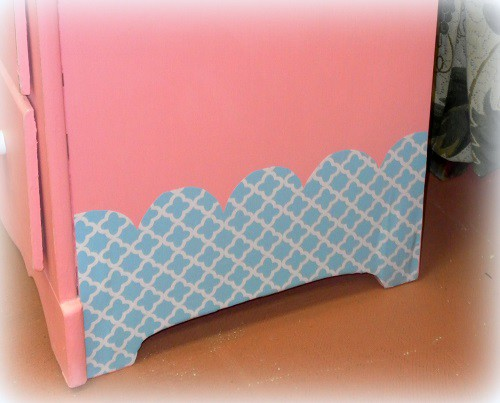 Dressing Up The Side Of A Dresser With Contact paper