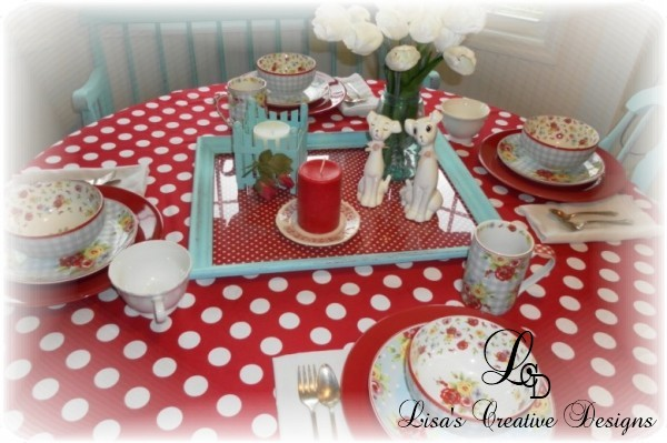 Country Cottage Kitchen Tablescape