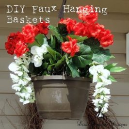 DIY Faux Hanging Baskets