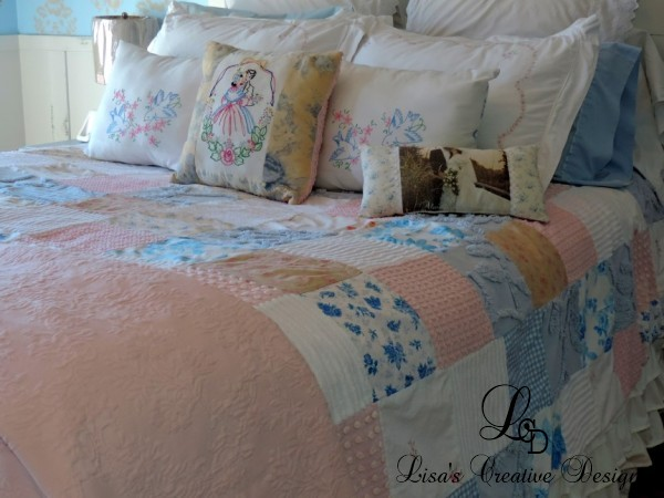 Stupendous Master Bedroom Makeover A Vintage Cottage Style Patchwork Interior Design Ideas Inesswwsoteloinfo
