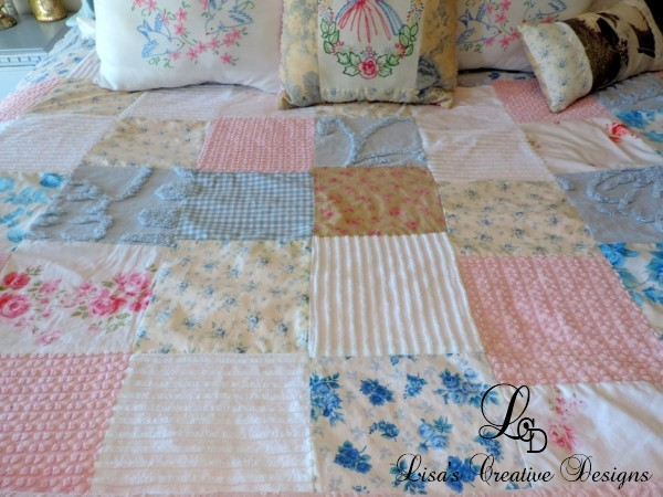 Shabby Cottage Chic Coverlet