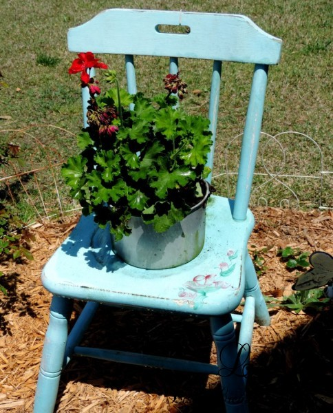 upcycled garden chair