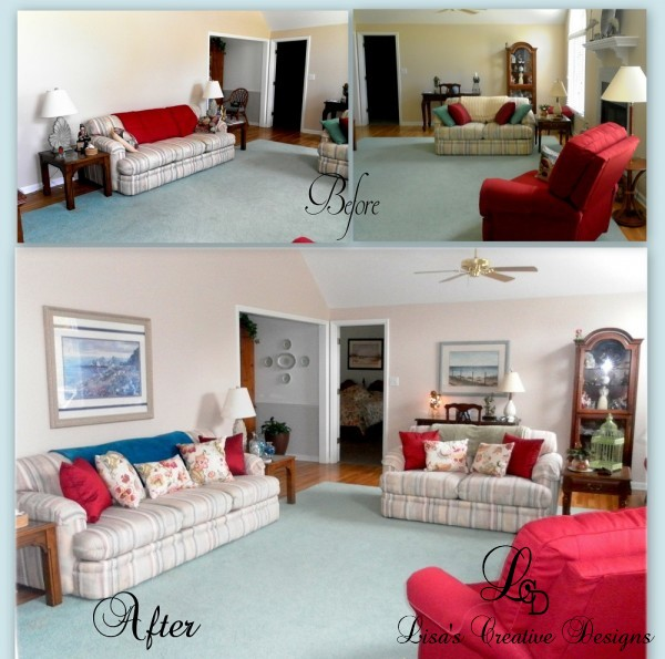 Before and After. Staging a Living Room