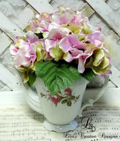 Upcycled Vintage Teapot Floral Arrangement