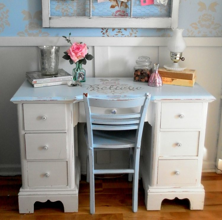 outstanding shabby chic office | Creatively Decorated Bedrooms By Lisa's Creative Designs