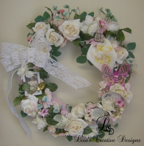 Decorate a Wreath With Vintage China