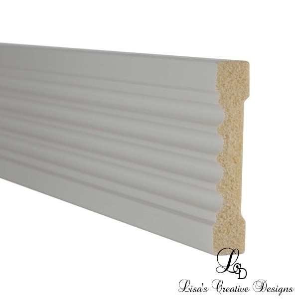 Fluted White Casing Molding