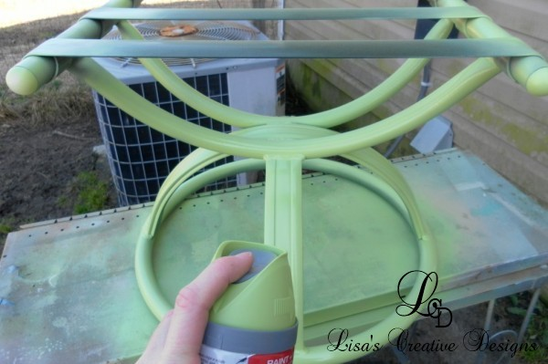 outdoor stool makeover