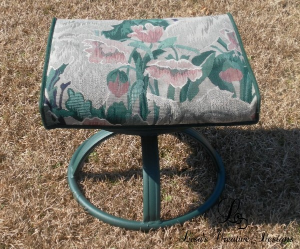outdoor footstool makeover