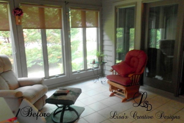 sunroom makeover before