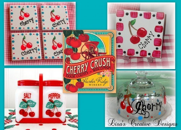 Vintage Inspired Cherry Themed Kitchen Decor