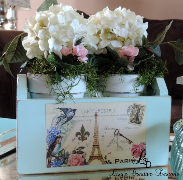 A French Country Floral Centerpiece