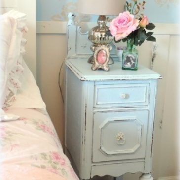 Before and After: Upcycled Antique Vanity Nightstands