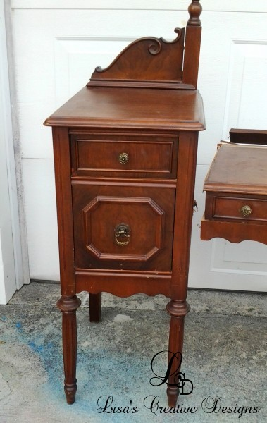Broken Antique Vanity Makeover Before
