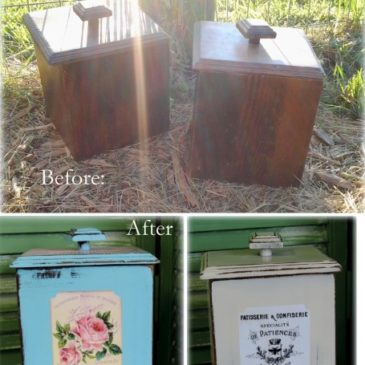 Before and After: A Pair Of Vintage Canisters Get A Makeover