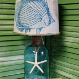 How To Make A Beach Inspired Bottle Lamp