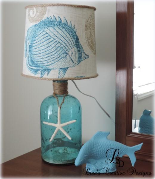 A Beachy Bottle Lamp