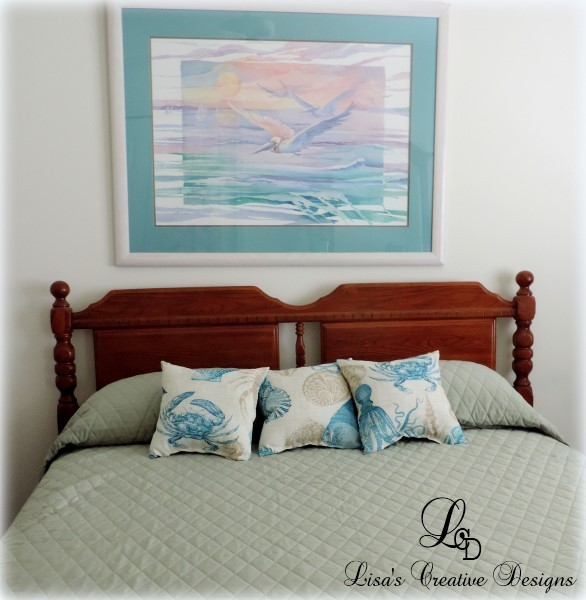 Staging A Beach Inspired Bedroom On a Budget