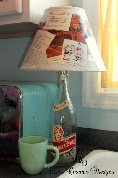 Upcycled Vintage Bottle Lamp