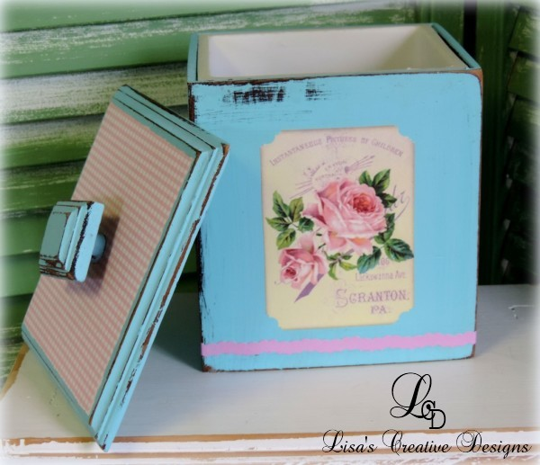 Shabby Chic Vintage Rose Canister