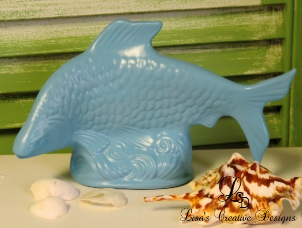 Upcycled Thrift Store Fish Figurine