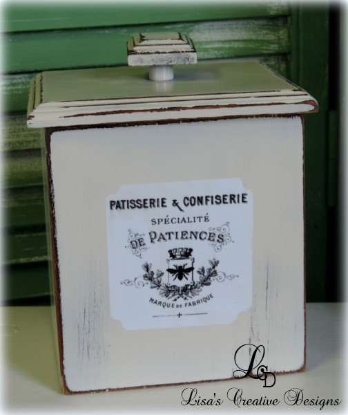 Upcycled Country French Kitchen Canister