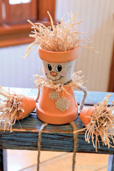 Clay Pot Scarecrow Fall Craft Project
