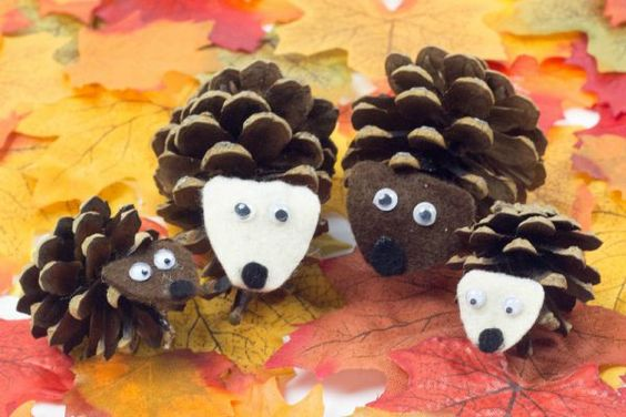 Pinecone Hedgehogs Craft Project For Kids