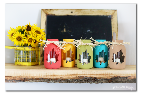 Fall Mason Jar Luminaries Craft Project