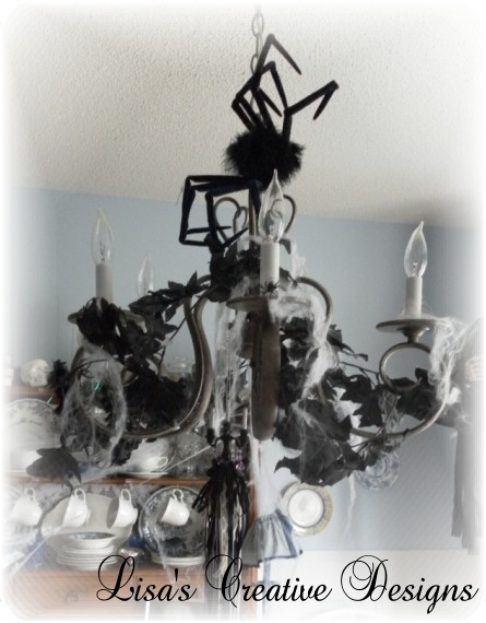 Halloween decorating tips create a creepy chandelier create a creepy chandelier for halloween that will make your home spooky mozeypictures Choice Image