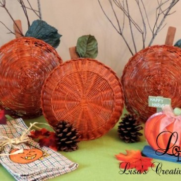 Easy Fall Crafts: An Upcycled Basket Pumpkin Patch