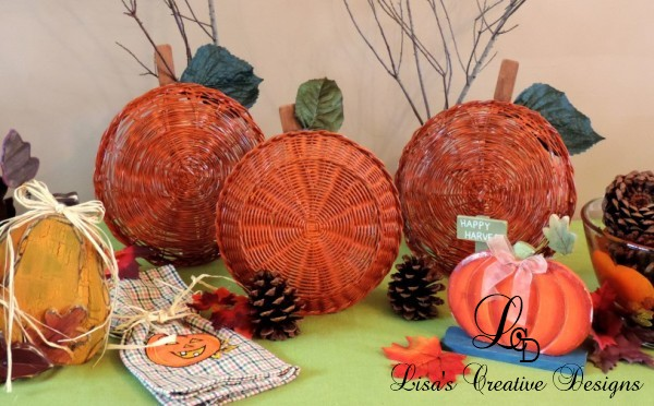 Easy Fall Crafts An Upcycled Basket Pumpkin Patch
