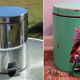 A Generic Trash Can Gets A Cute Cottage Style Makeover