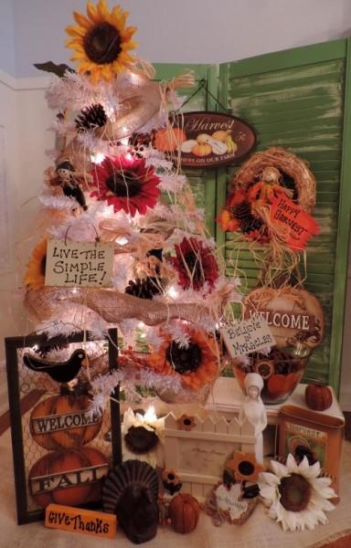 Thanksgiving Fall Christmas Tree