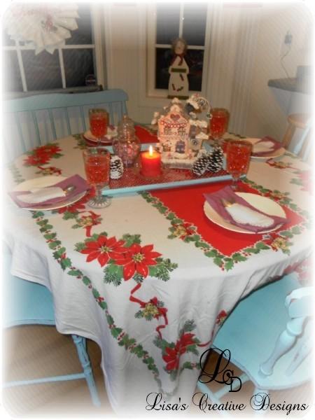 Vintage Christmas Tablescape