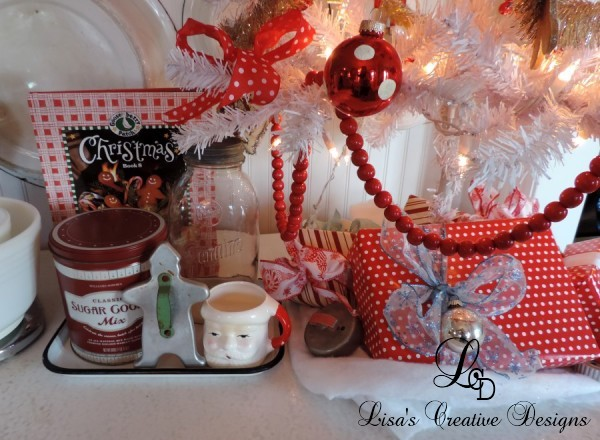 Baking Christmas Cookies Themed Christmas Vignette