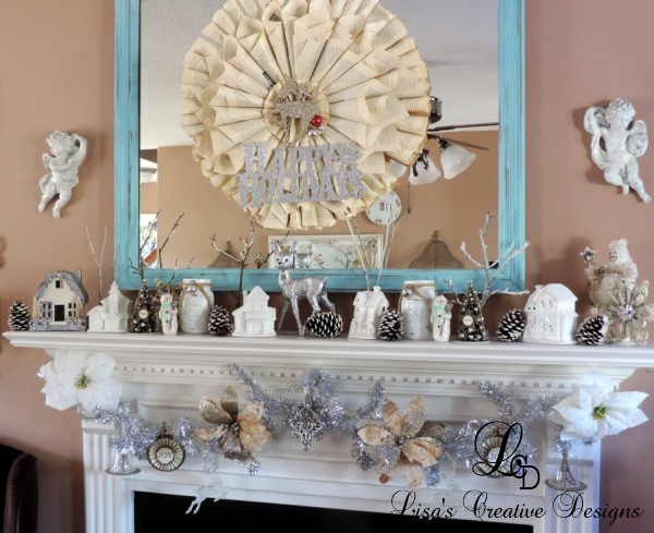 A French Country Christmas Mantel
