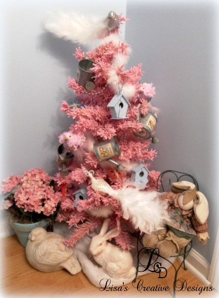 Pink Garden Inspired Christmas Tree