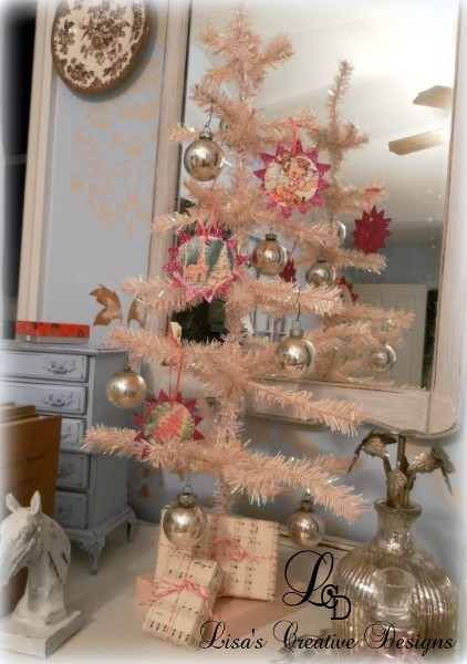 Tabletop Pink Christmas Tree